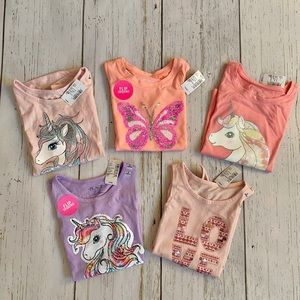 The Children's Place | 5 sets of Girls Tops
